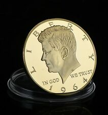 USA 2014 Kennedy Half Dollar Coin 50th ANNIV - Gold Plated 1964 Edition - UNC