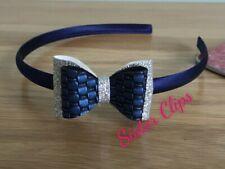 JTY975 10cm grosgrain ribbon bow on a ribbon wrapped narrow aliceband