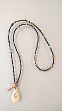 Hand Made Black Onyx Stone  Beaded Tribal  Necklace