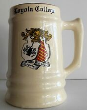 Vintage Loyola College Stein Loyola Y Onaz  Coat of Arms Seal Montreal Canada