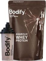 BODIFY ANABOLIC WHEY 100% PROTEIN POWDER SHAKE (1kg / 1.5kg /4.5kg) +FREE SHAKER