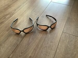 Pair Of Official Nerf Safety Glasses / Goggles Grey Orange Lens X2