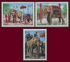 LAOS N°1154/1156** ELEPHANTS, 1994 Set MNH