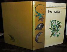 ANCIEN LIVRE . EDITIONS GAMMA . LES REPTILES .1972. TORTUE SERPENT LEZARD