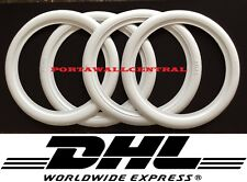 """ATLAS 17"""" inch white wall Topper port a wall tire insert trim Set 4 FORD CHEVY."""