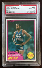 1981-82 Topps Mike Woodson Rookie #89, PSA 10, Indiana Hoosiers, New York Nets
