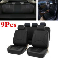 9X Luxury PU Leather Car Seat Cover Front/Rear Autos Interior Seat Cushion Cover