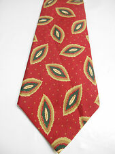Archives by Countess Mara Red Necktie w/ Brown and Green Geometric Design