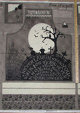 "Come Sit a Spell Graveyard Halloween Fabric 29"" APRON Panel #84393"