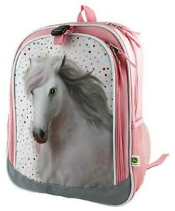 NEW John Deere Pink Horse Pony Book Bag Backpack LP77252