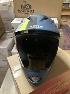 Bell Sanction Full Face Bike MTB Bicycle Helmet Matte Blue/Hi-Viz Large