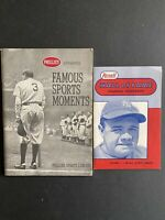 Babe Ruth Front Covers Phillies Famous Sports Moments & Rexall HOF Baseball Hand