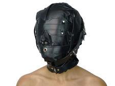 Isolationsmaske Leder maske mit Augenbinde Ledermaske schwarz Art.Nr. 658