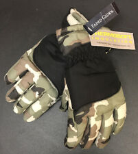 FADED GLORY CAMO GREEN WINTER GLOVE THERMOSOFT POLYESTER CHILDREN SIZE L / LX
