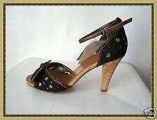 Magnifiques Chaussures Escarpins Noir et Marron Elite  Pointure 40
