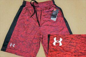 NEW Mens Under Armour Gym Loose HeatGear Athletic Graphic Logo Shorts M L XL XXL