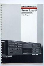 STUDER REVOX B226-S CD Player Bedienungsanleitung/User Manual Top-Zust.!