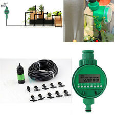 Garden Micro Irrigation Water Timer Controller Misting Cooling Watering System
