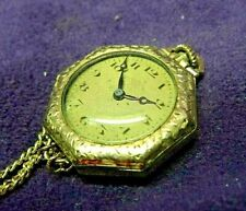 1910s General (Hallmark) Swiss Octagonal Gold Filled Necklace Pendant watch