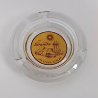 "Vintage The Sands Hotel Casino Las Vegas Nevada 4"" Glass Ashtray Chip #2"