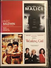 THE ALEC BALDWIN COLLECTION MALICE - MIAMI BLUES - WORKING GIRL - DVD REGION 1
