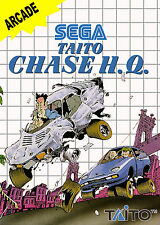 Taito Chase H.Q. SEGA Master System Framed Print (Man Cave Picture Game Gaming)
