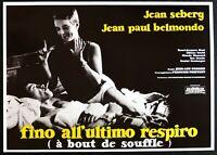 Werbeplakat bis Zum Letzten Atem Jean Luc Godard Jean Paul Belmondo Seberg P05