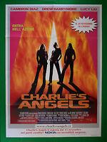Manifesto CHARLIE'S Angels Cameron Diaz Lucy Liu Drew Barrymore Cine Film M58