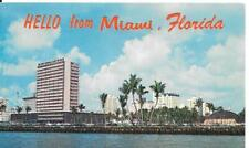 Postcard Greetings Miami Florida Water 1964 Posted to Winifred Pomroy