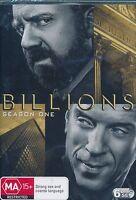 Billions Season 1 One First DVD NEW Damien Lewis PauL Giamatti Region 4