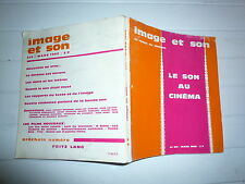 IMAGE ET SON  LA REVUE DE CINEMA N° 215 MARS 1968 LE SON AU CINEMA