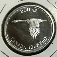 1967 CANADA SILVER GOOSE  DOLLAR BRILLIANT UNCIRCULATED