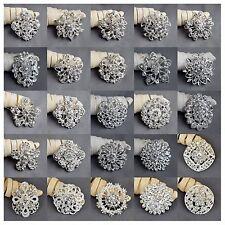 100 pcs Brooch Wholesale Lot Rhinestone Crystal Pin Wedding Bouquet DIY Kit