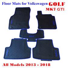 Rubber Car Floor Mats Tailor Made for VW Volkswagen Golf MK7 2013 - 2018 Blue
