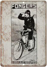 """Fongers Bicycle Vintage Ad 10"""" x 7"""" Reproduction Metal Sign B357"""