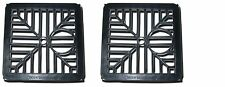 2 X BLACK PLASTIC SQUARE DRAIN GULLEY GRID COVER 150MM 6 INCH