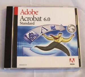 Adobe Acrobat 6.0 Standard for Windows Full Version CD (old version)