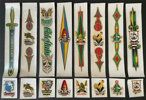 SET OF 16 VINTAGE BICYCLE STICKERS FROM THE 1960s