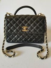 Chanel Top Handle Quilted Bag With Sling