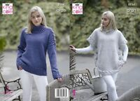 Kingcole 5154 Ladies Aran KNITTING PATTERN - 32-42in Not the finished items