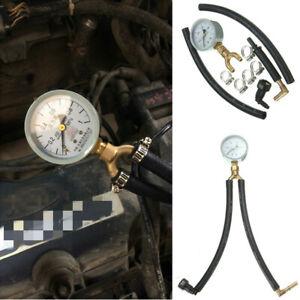 Auto Car Fuel Pressure Meter Tester Gasoline Oil Injection Pump Pressure Gauge