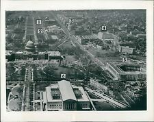 1941 Capitol Building and City Airview Original News Service Photo