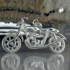 """ECHT SILBER Trendy Kettenanhänger """"Biker"""" 925 Silber 13,00 mm x 25,00 mm"""