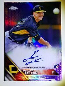 2016 Topps Chrome Jameson Taillon purple auto autograph /250 Yankees rookie RC