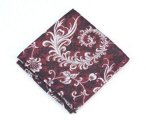 Lord R Colton Masterworks Pocket Square - Kyoto Merlot Floral Silk - $75 New