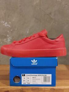Adidas Court Vantage Adicolor S80253 Sneaker Schuhe Trainer  Rot NEU  OVP
