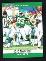 Jojo Townsell #241 signed autograph auto 1990 Pro Set Football Trading Card