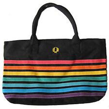 Pride Shack - Gay & Lesbian Pride Merchandise LARGE Black Rainbow Beach Tote Bag