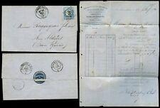 FRANCE 1873 WEAVERS VILLARD CASTELBON + WAFER SEAL + LETTERHEAD
