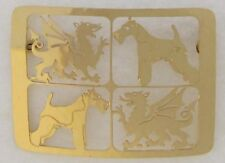 Welsh Terrier Jewelry Gold Large Pin by Touchstone